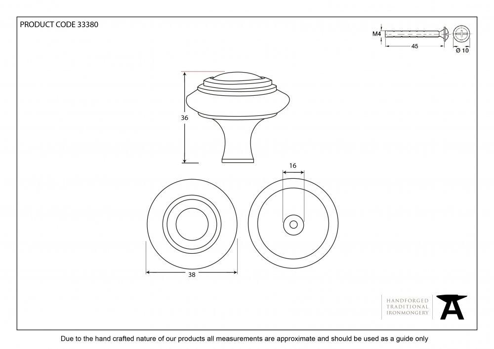 Beeswax Cabinet Knob - Large image