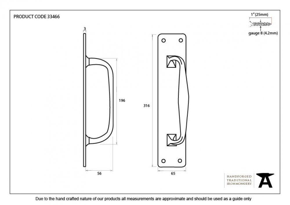 Black Pull Handle on Backplate image