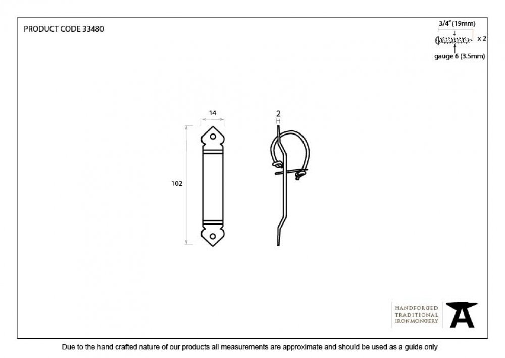 Beeswax Locking Gothic Screw on Staple image