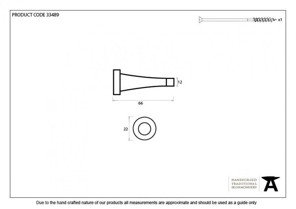 Beeswax Projection Door Stop image