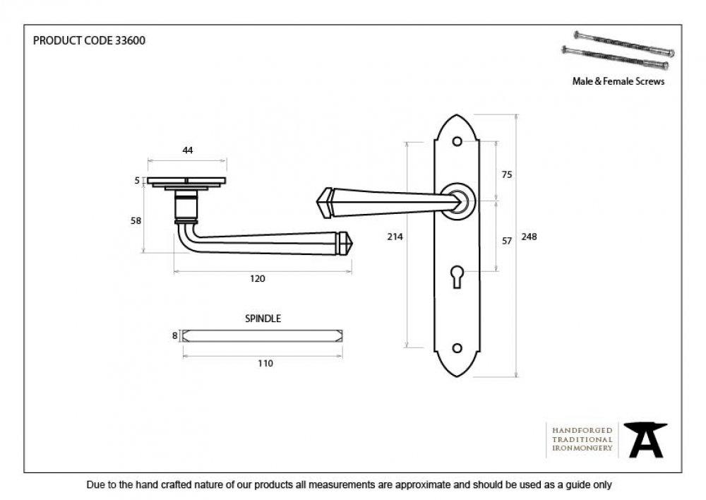 Pewter Gothic Lever Lock Set image