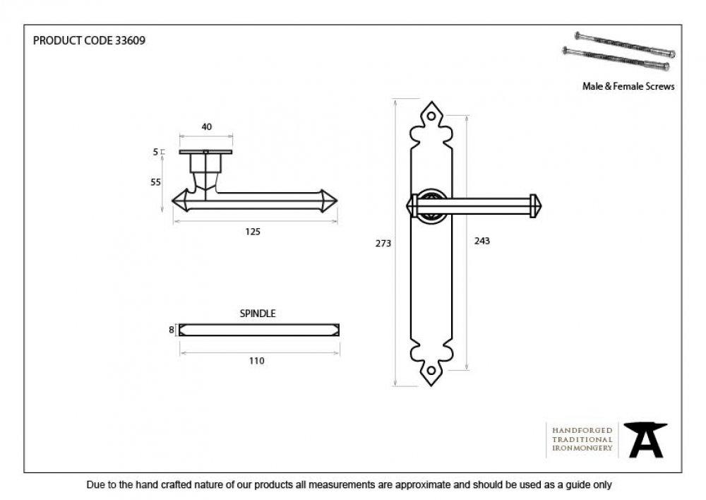 Pewter Tudor Lever Latch Set image