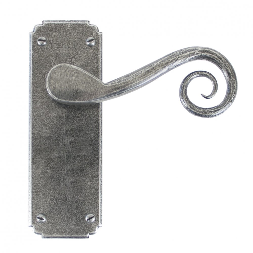 Pewter Monkeytail Lever Latch Set image