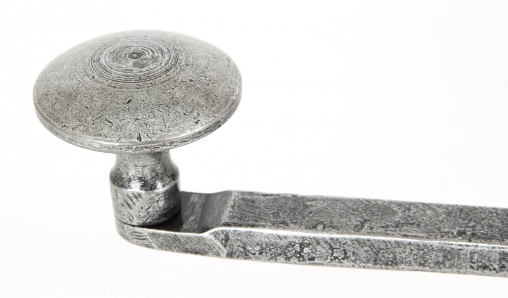 Handmade French Door Bolt Straight 10'' - Pewter Patina image