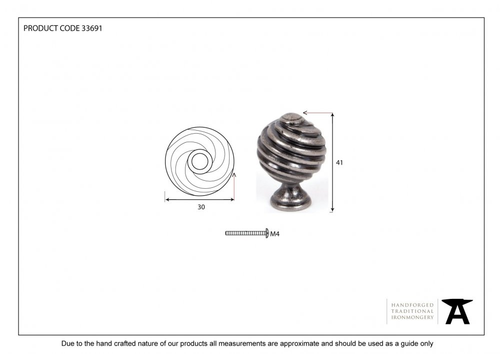Pewter Patina Twist Knob image