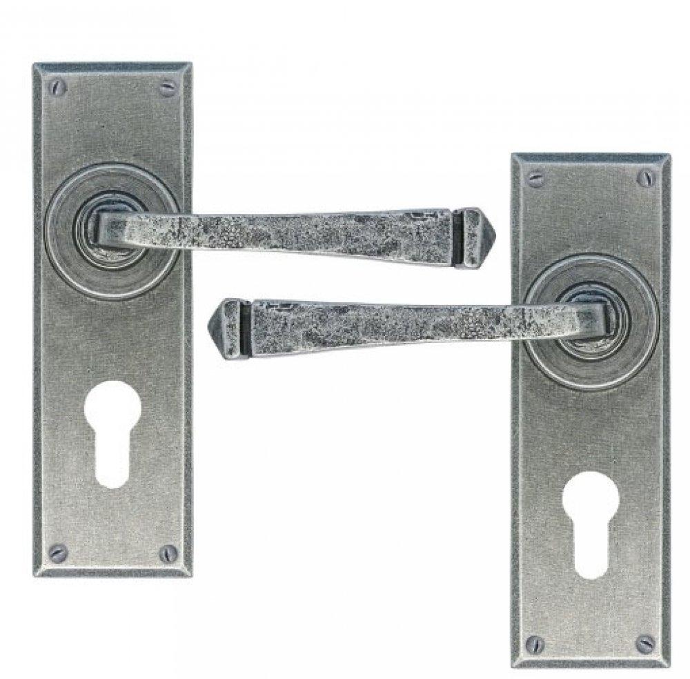 Pewter Avon Pewter Euro Lever Lock Set image