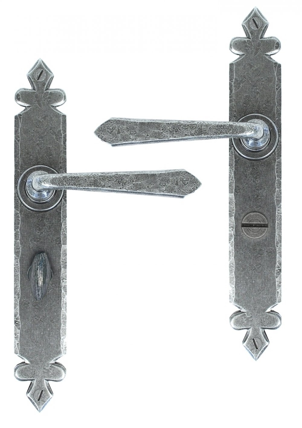 Pewter Cromwell Sprung Lever Bathroom Set image