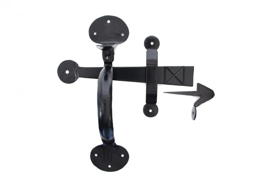 Black Medium Bean Thumblatch - XL image