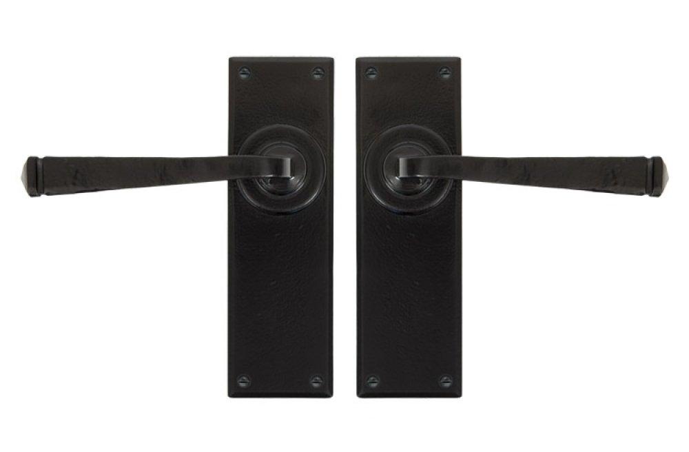 Black Avon Lever Latch Set image