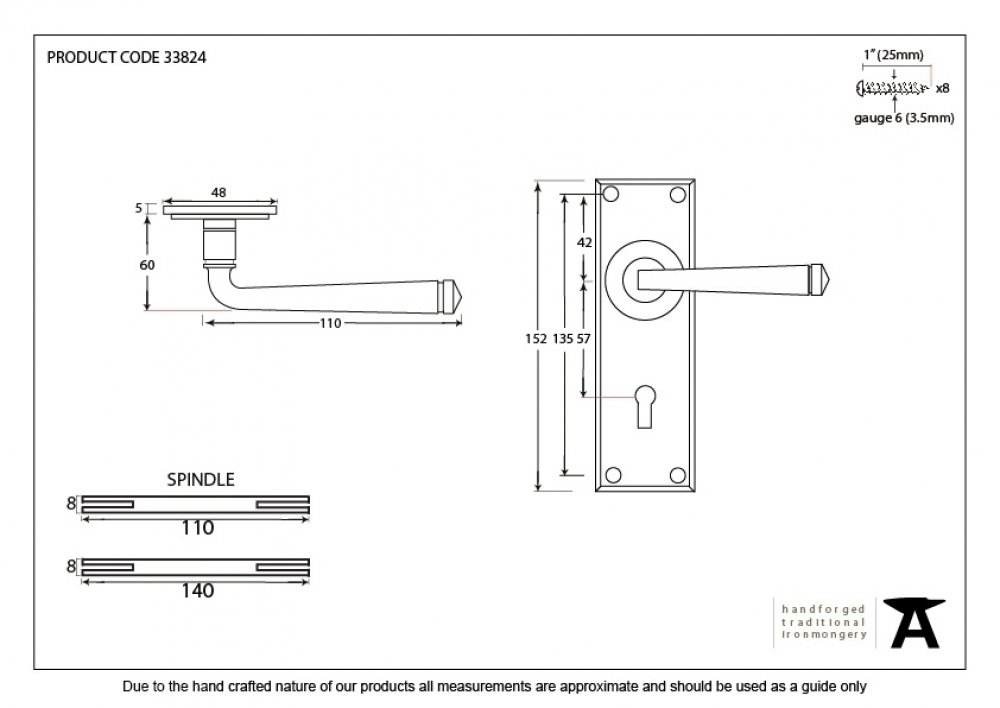 Black Avon Lever Lock Set image