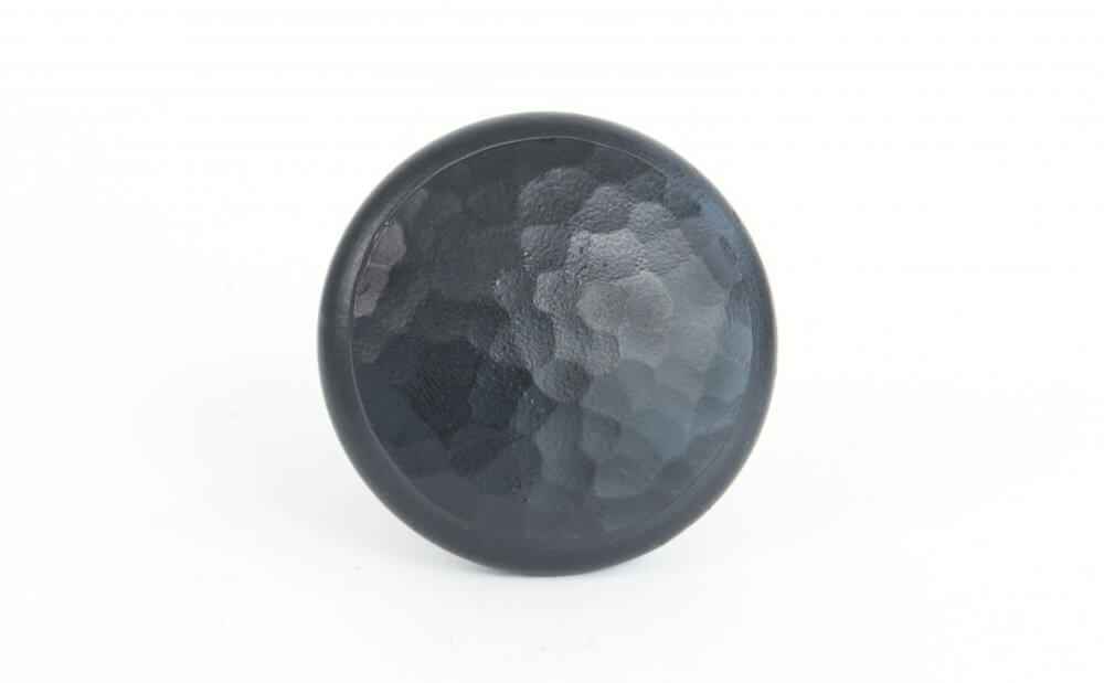 Black Beaten Cupboard Knob - Large image