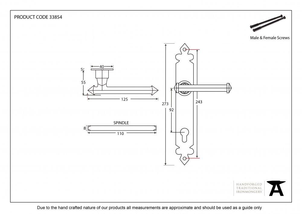 Beeswax Tudor Lever Espag. Lock Set image