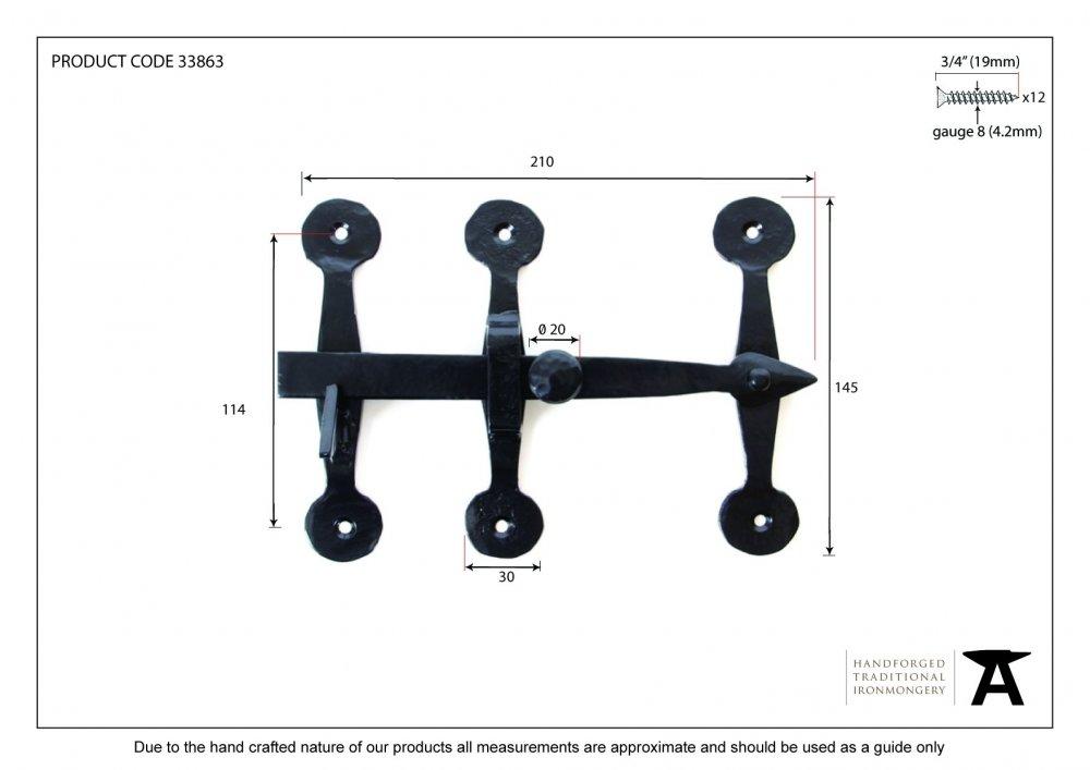 Black Oxford Privacy Latch Set image