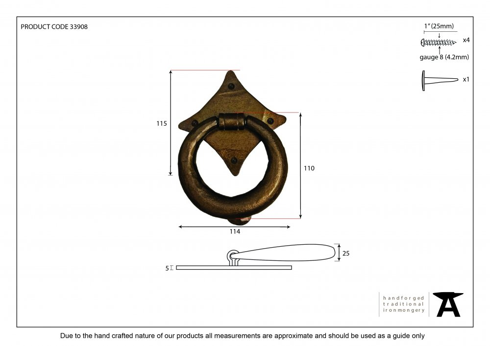 Bronze Ring Door Knocker image