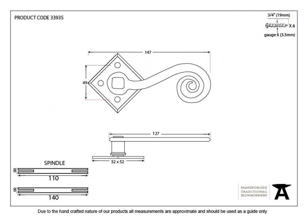 Bronze Monkeytail on Diamond Rosette image