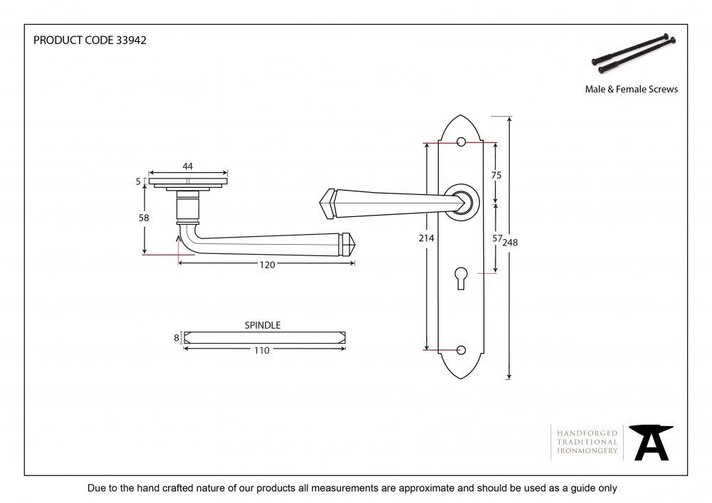 Bronze Gothic Lever Lock Set image