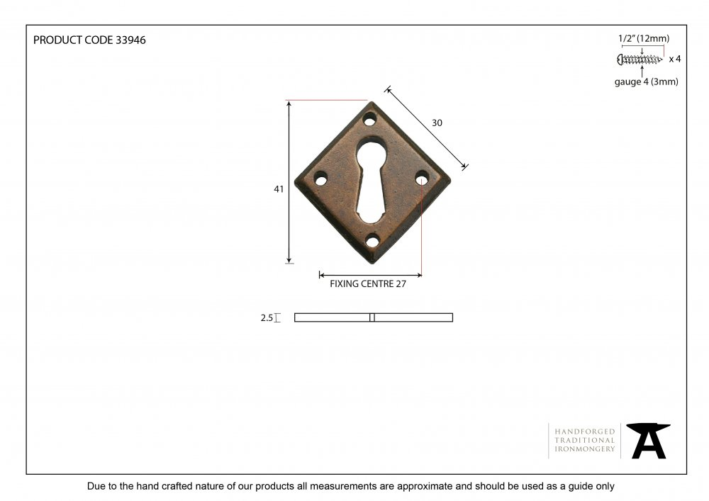 Bronze Diamond Escutcheon image