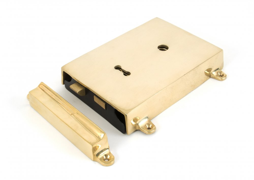 Polished Brass Rim Lock & Cover image