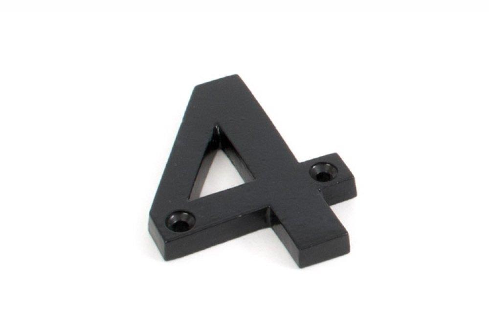 Black Numeral 4 image