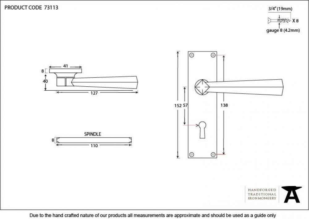 Beeswax Straight Lever Lock Set image