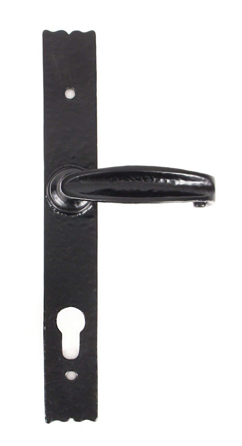 Black Cottage Lever Espag. Lock Set image
