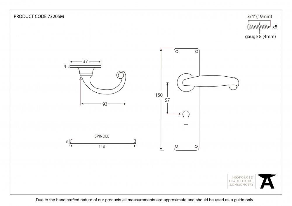 Black MF Lever Lock Set image