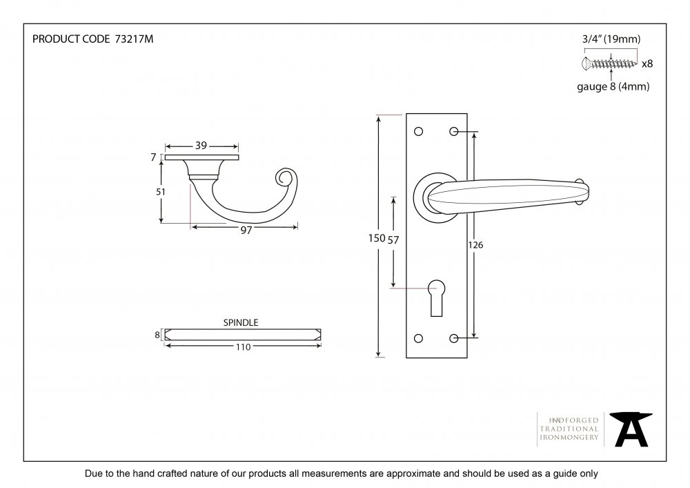 Black Lever Lock Set image