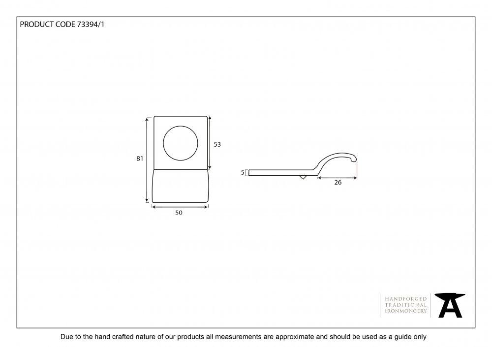 Black Rim Cylinder Pull image