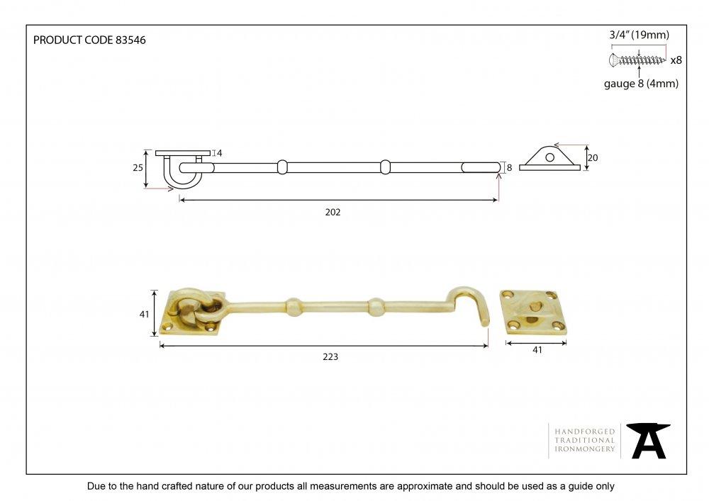 Polished Brass 8'' Cabin Hook image