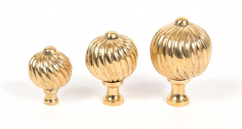 Polished Brass Spiral Cabinet Knob - Large image