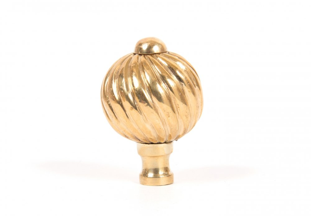 Polished Brass Spiral Cabinet Knob - Small image