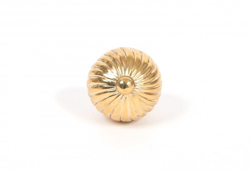 Polished Brass Spiral Cabinet Knob - Medium image