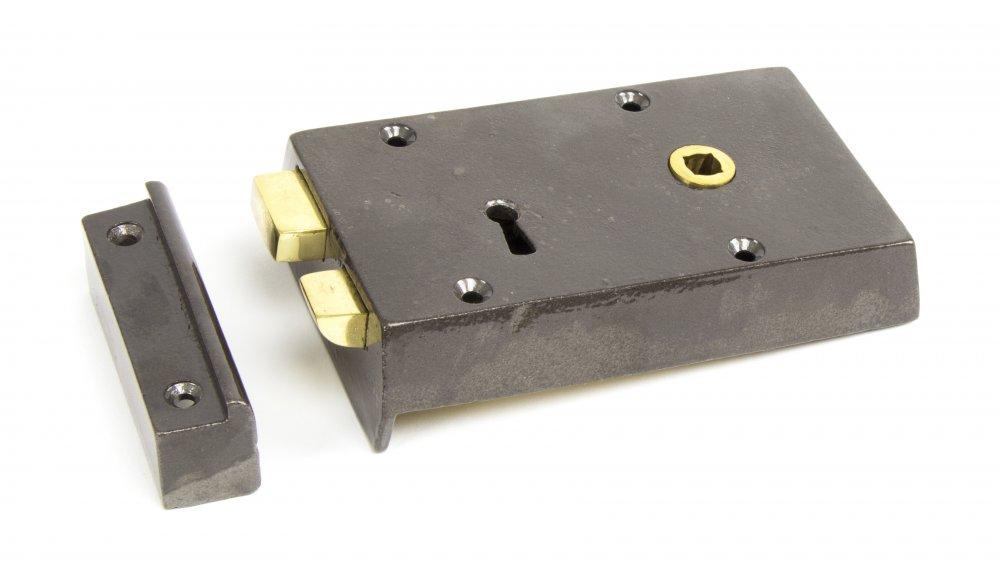 Iron Right Hand Rim Lock - Small image
