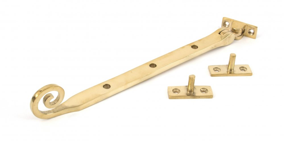 "Polished Brass 10"" Monkeytail Stay image"