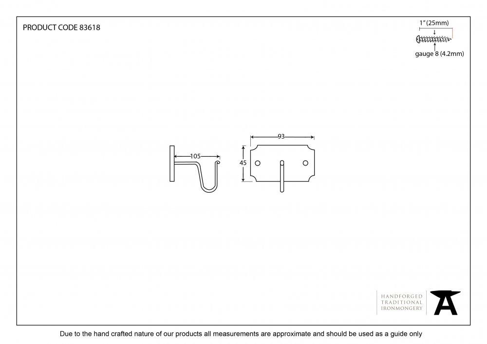 Beeswax Mounting Bracket (pair) image