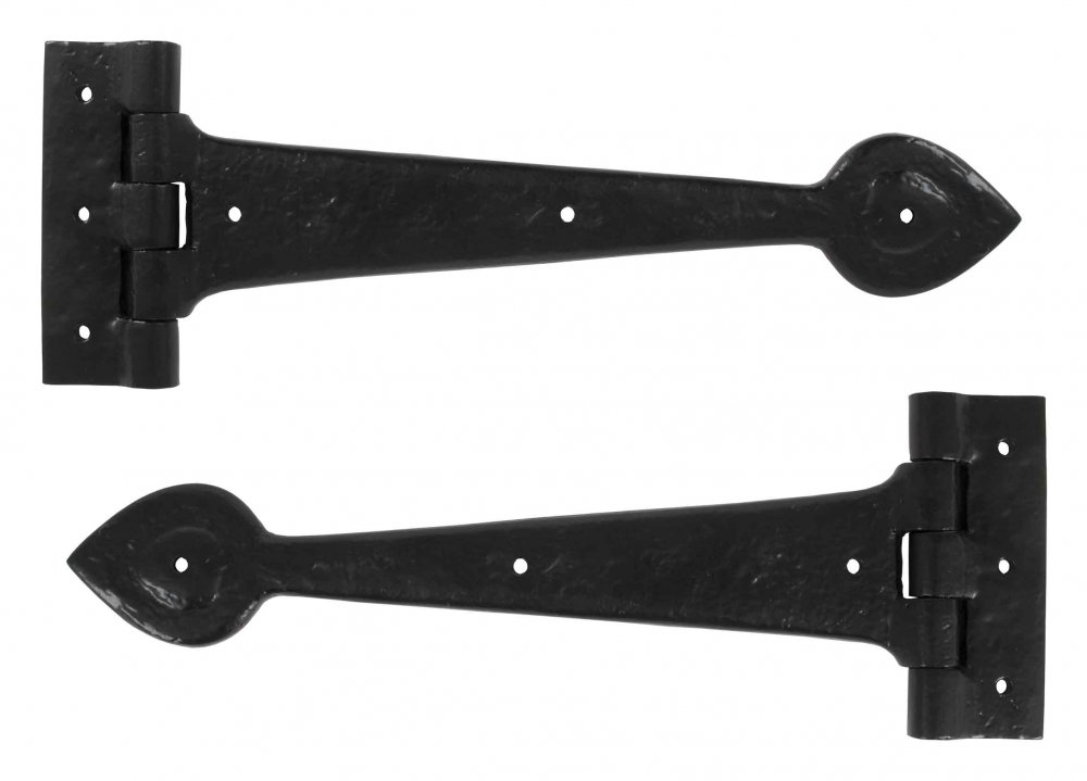 "Black Antique 12"" T Hinge (pair) image"