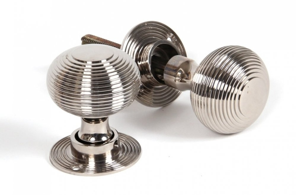 Polished Nickel Heavy Beehive Mortice/Rim Knobs image