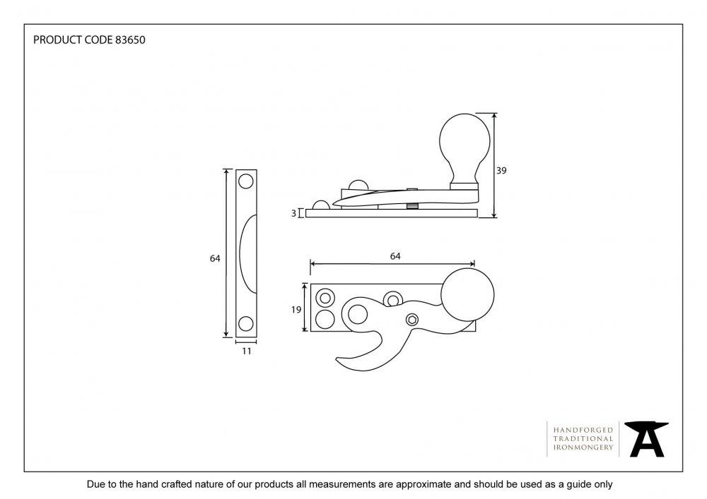 Beeswax Sash Hook Fastener image