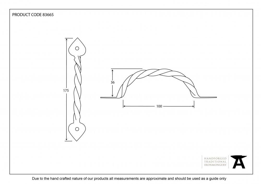 Twist Pull Handle - Beeswax image