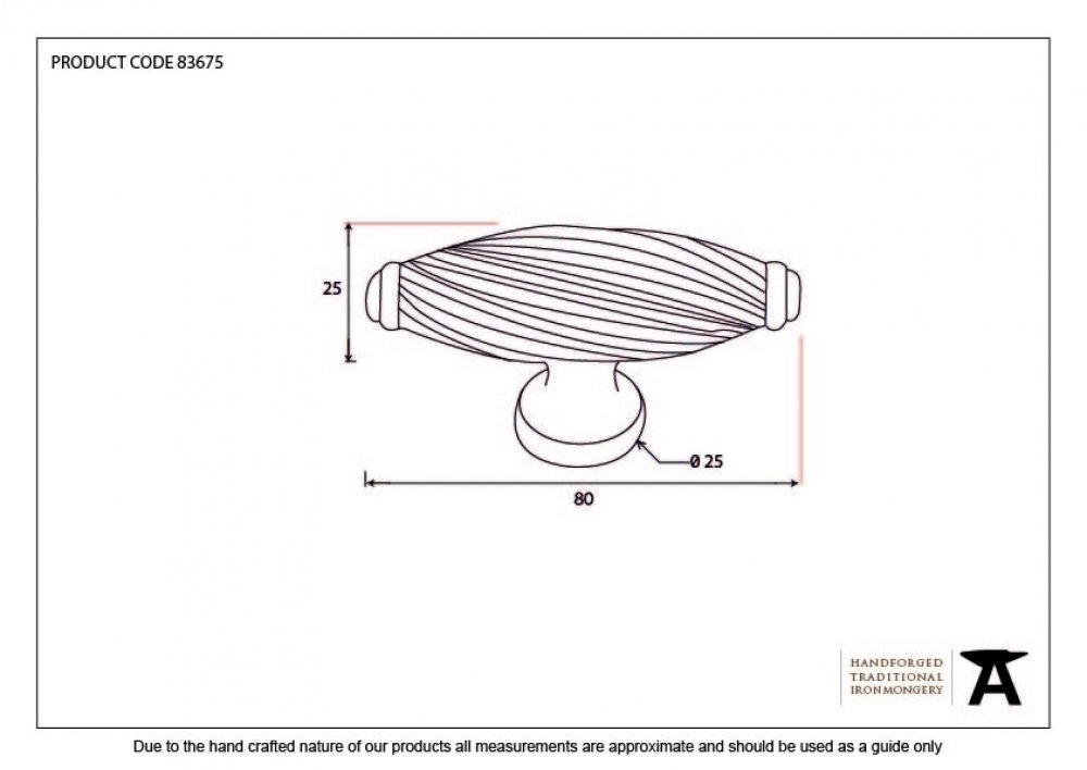 Cabinet Handle - Beeswax image