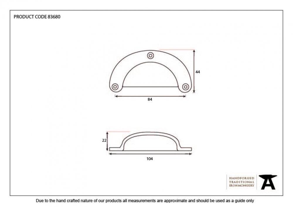 Plain Drawer Pull - Black image