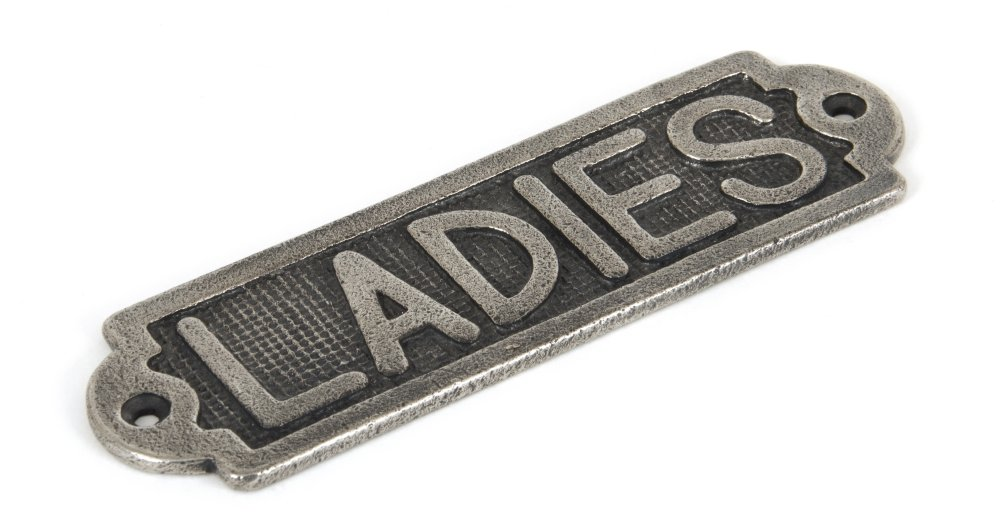 Ladies Sign - Antique Pewter image