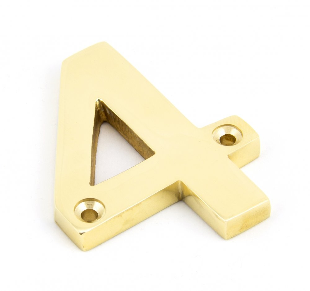 Polished Brass Numeral 4 image