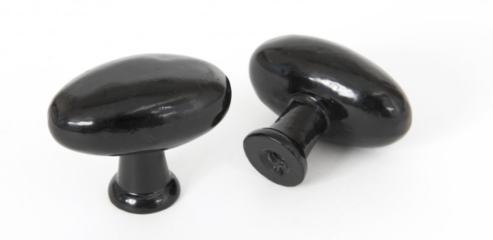 Oval Cabinet Knob - Black image