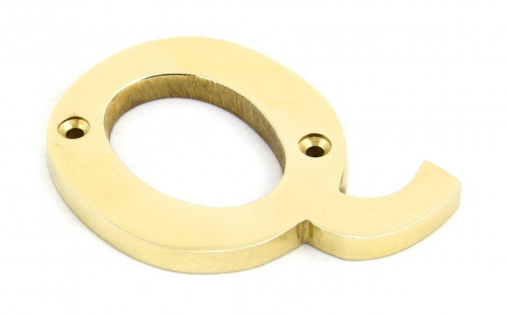 Polished Brass Letter Q image