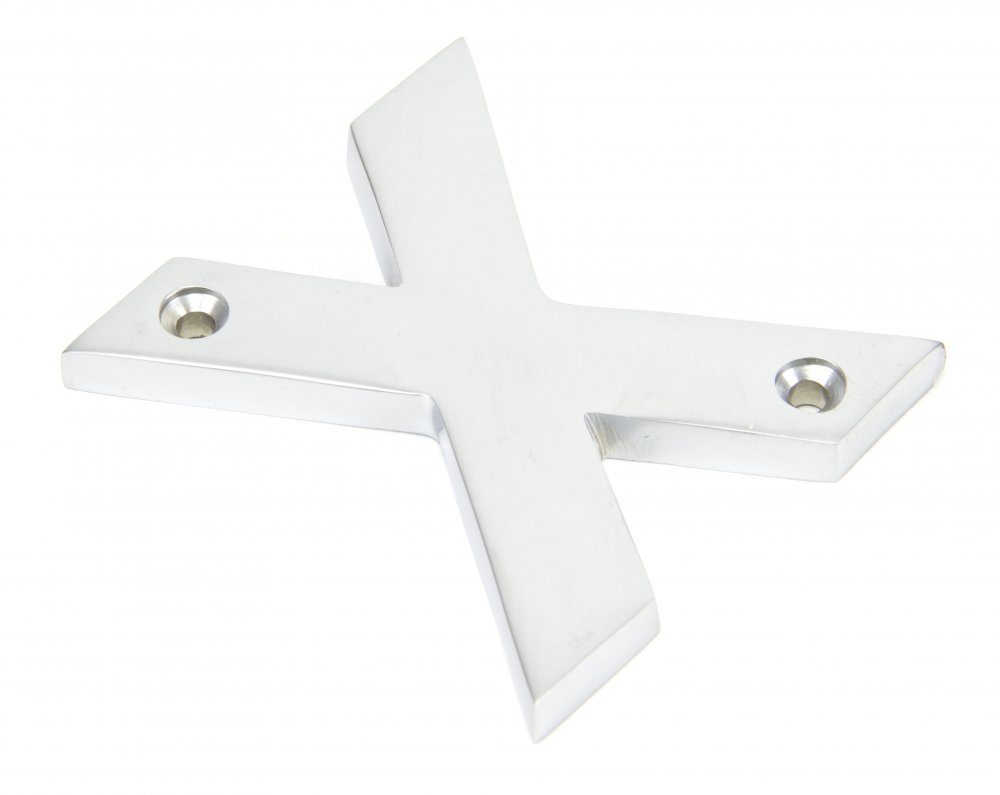 Satin Chrome Letter 'X' image