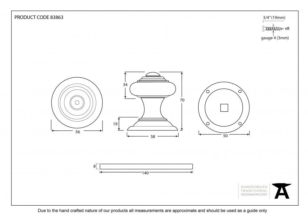 Polished Nickel Elmore Concealed Mortice Knob Set image