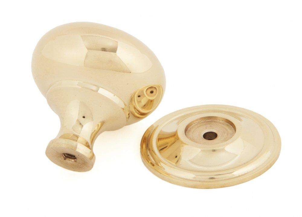 Polished Brass Mushroom Cabinet Knob - Large image
