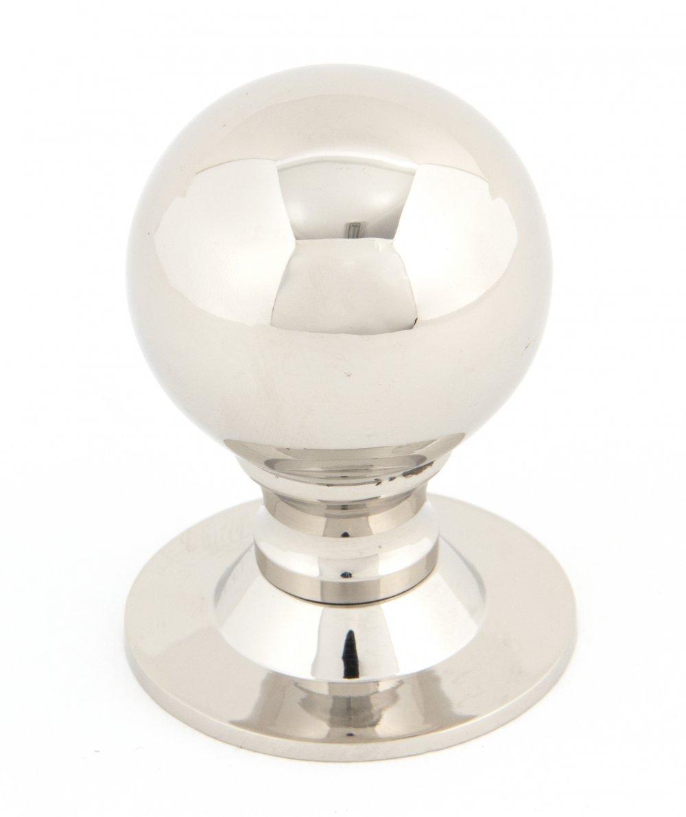 Polished Nickel Ball Cabinet Knob - Large image