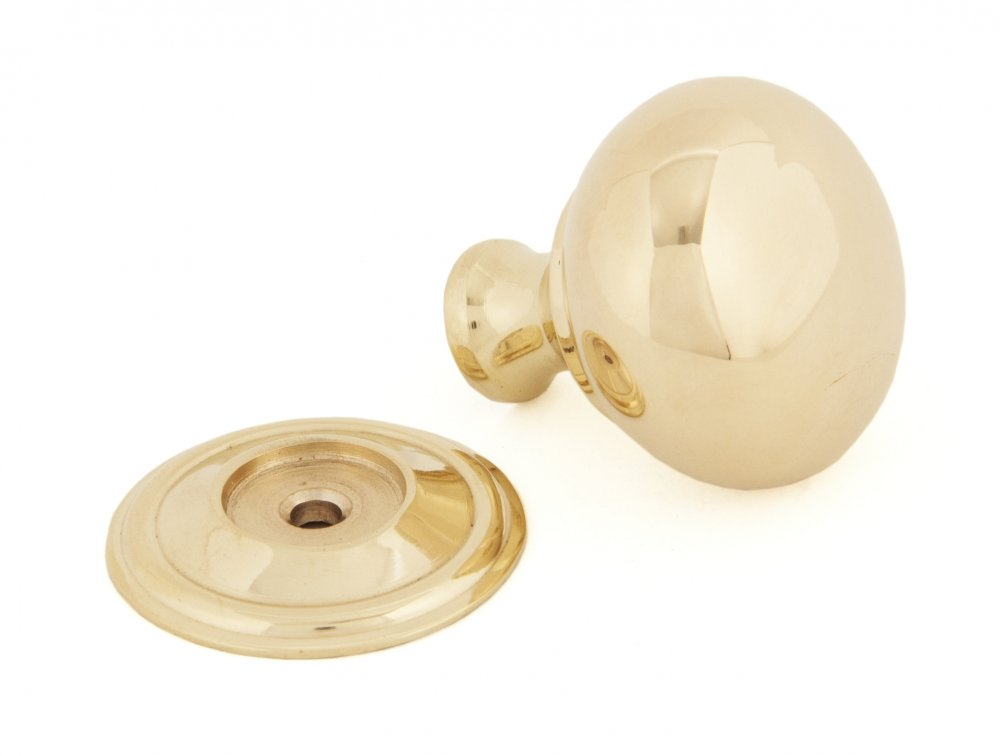 Polished Brass Mushroom Cabinet Knob - Small image